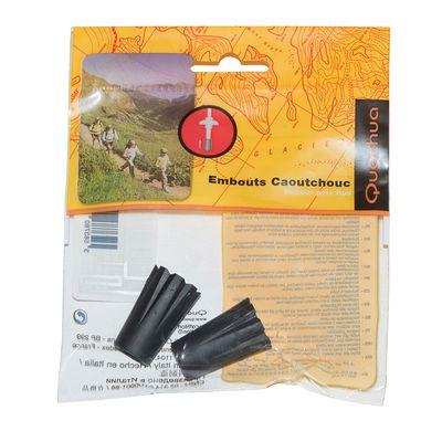 Kit de 2 embouts caoutchouc pour bâtons de randonnée