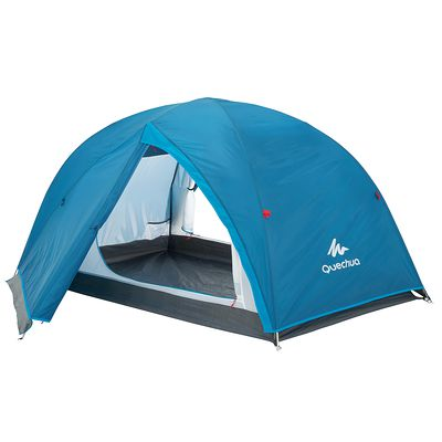 Tente de camping arpenaz 2+ 2 personnes et espace de rangement