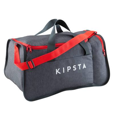 Sac de sports collectifs Kipocket 40 litres gris rouge