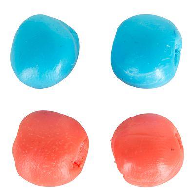 Bouchons d'oreille silicone colorés Rouge et Bleu