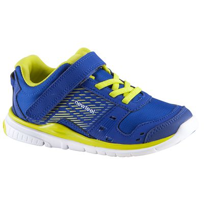 Chaussures marche sportive enfant Actiréo bleu / jaune