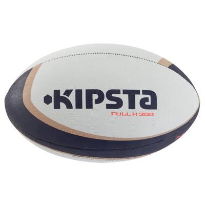Ballon rugby R300 taille 4 blanc marron