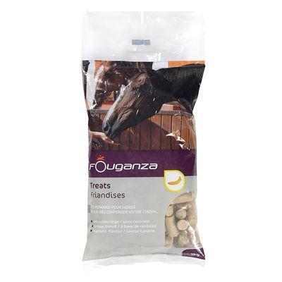 Friandises pour chevaux et poneys FOUGATREATS banane - 1KG