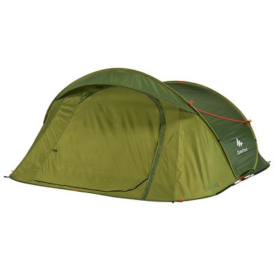 Tente camping 2 Seconds EASY 3 vert - 3 personnes