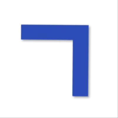 Lot de 6 angles de marquage au sol bleu