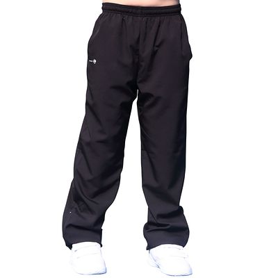 PANTALON JUNIOR ESSENTIEL 100 NOIR TENNIS BADMINTON