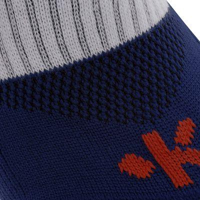 Chaussettes hautes de football enfant F500 bleues marines