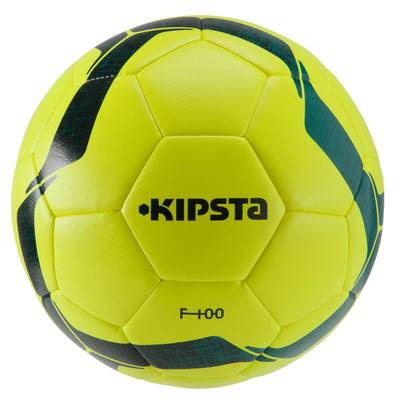 Ballon de football F100 Hybride taille 5 jaune