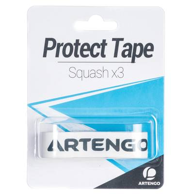 BANDE DE PROTECTION RAQUETTE DE SQUASH PROTECT TAPE BLANC LOT DE 3