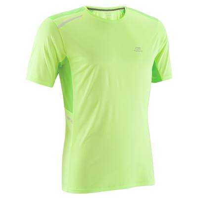 TEE SHIRT RUNNING HOMME RUN DRY + JAUNE