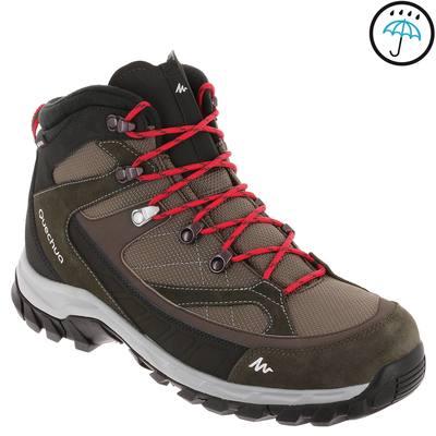 Chaussures de randonnée Quechua Forclaz 100 High imperméable homme marron