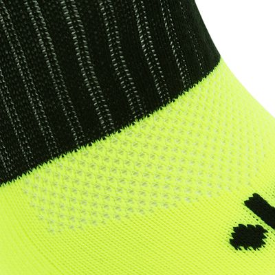 Chaussettes hautes football adulte F500 jaune fluo