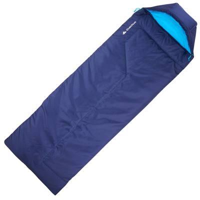 Sac de couchage de bivouac / randonnée / trek FORCLAZ 10° bleu zip droit
