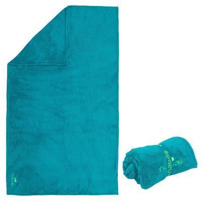 Serviette microfibre douce bleu L