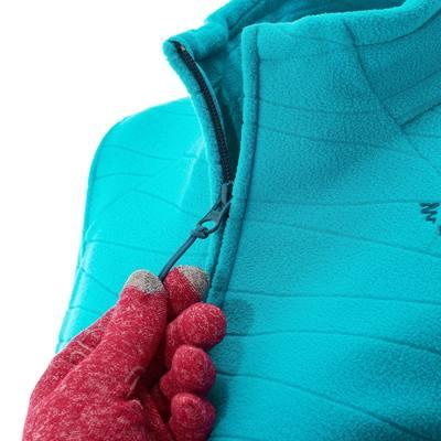 Veste polaire de randonnée montagne femme Forclaz 200 bleu emboss