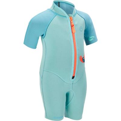 Shorty de snorkeling 1,5mm enfant 100 kid bleu turquoise