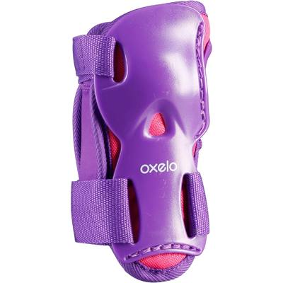Set 3 protections roller skate trottinette PLAY rose violet