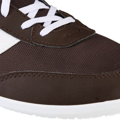 Chaussures marche quotidienne Many mesh marron / blanc