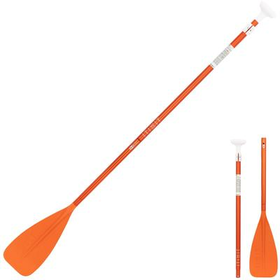 PAGAIE STAND UP PADDLE 100 DEMONTABLE REGLABLE 170-220 CM ORANGE