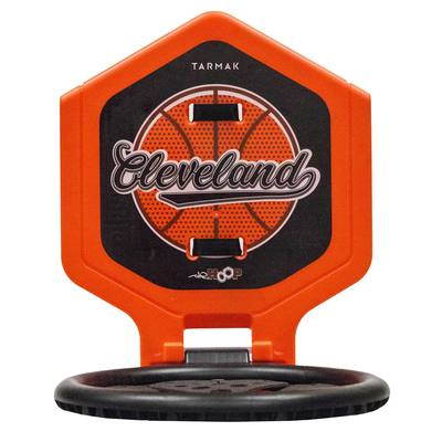 Panier de basket enfant/adulte THE HOOP Cleveland orange. Transportable.