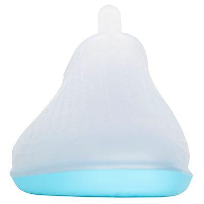 Chaussons d'aquagym Aquafun transparent et bleu