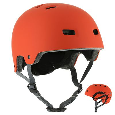 Casque roller skateboard trottinette vélo MF 7 orange