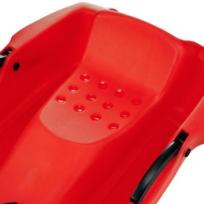 Luge avec frein Plateau 1 personne rouge