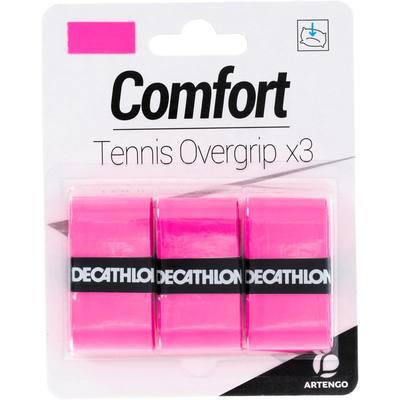 SURGRIP DE TENNIS CONFORT ROSE LOT DE 3