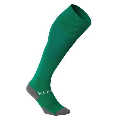 Chaussette de football rayée enfant F500 verte