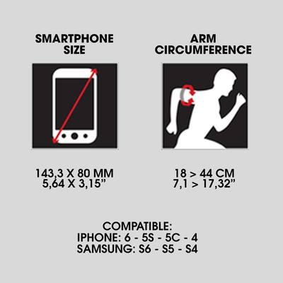BRASSARD SMARTPHONE RUNNING NOIR
