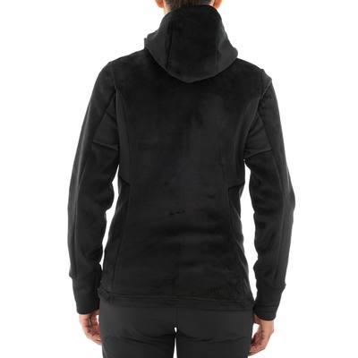 Polaire randonnée femme Forclaz 500 noir