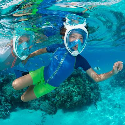 Top de snorkeling enfant bleu vert