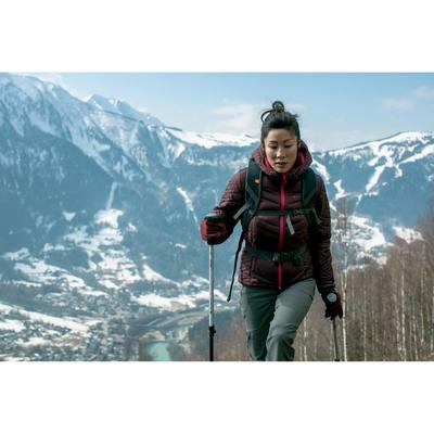 Doudoune randonnée femme X-Light 3 bordeaux chiné