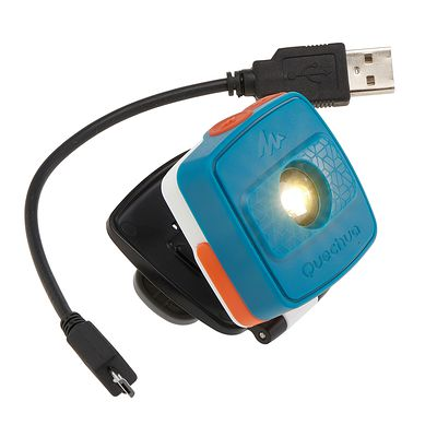 Eclairage randonnée lampe clic bleu