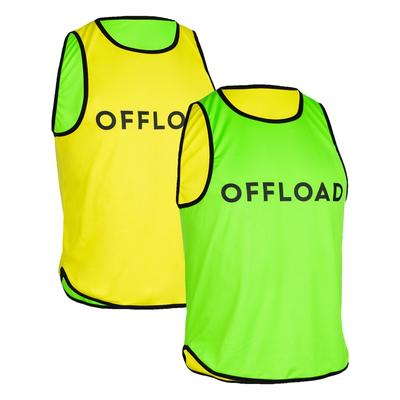 CHASUBLE RUGBY R500 RÉVERSIBLE JAUNE/VERT