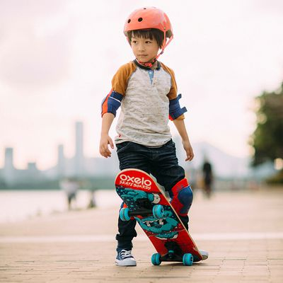 Skate enfant PLAY 3 BEAR bleu