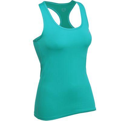 Débardeur MY TOP fitness femme bleu vert