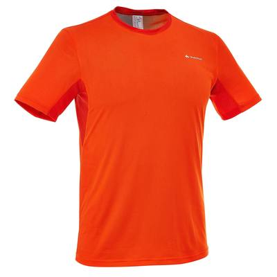 T-Shirt Manches Courtes Randonnée TechFRESH 50 homme Orange