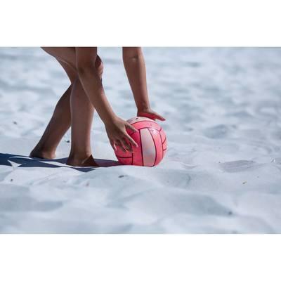Ballon de beach-volley extérieur BV100 rose orange