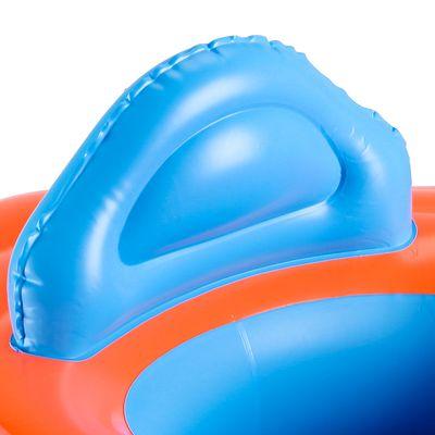 Bouée siège bébé orange avec hublot et poignées pour  l'enfant de 11-15 kg