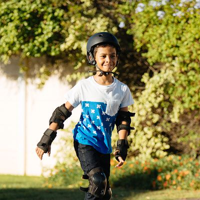 roller enfant PLAY 5 bleu noir