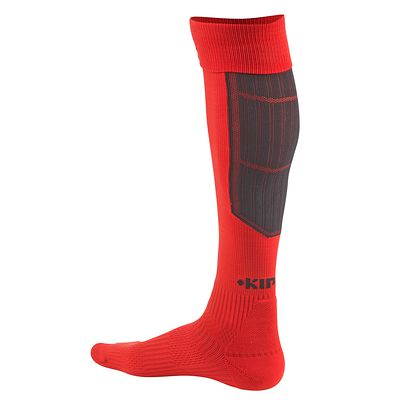 CHAUSSETTES RUGBY R500 ROUGE/NOIR