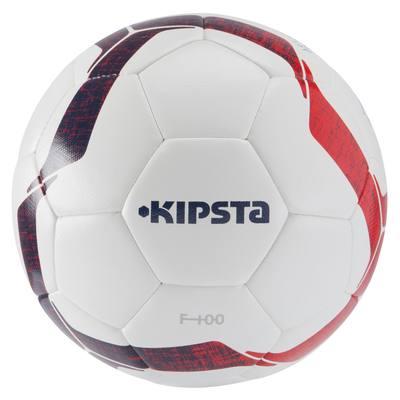 Ballon de football F100 Hybride taille 5 blanc