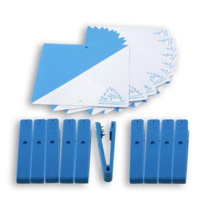 LOT DE 10 BALISES PLASTIQUES CONTRÔLE ORIENTATION COULEURS * PINCES ORIENTSPORT