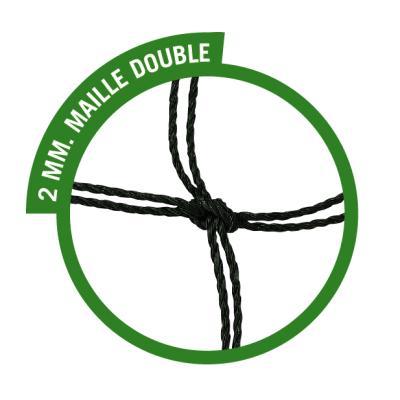 PAIRE DE FILETS POUR BUTS DE FOOTBALL À 7 JOUEURS RABATTABLE MAILLE DOUBLE 2 MM