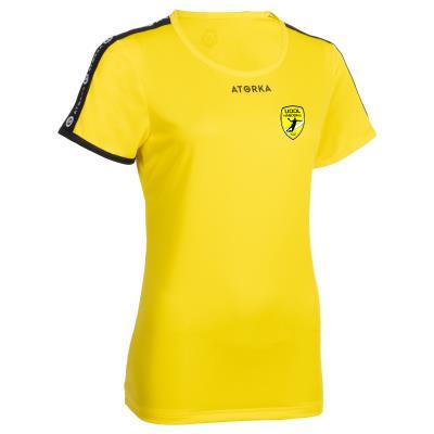maillot handball h100 femme jaune uodl