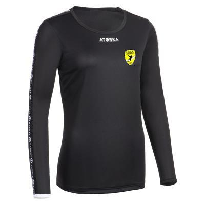 maillot handball ml h100 femme noir uodl