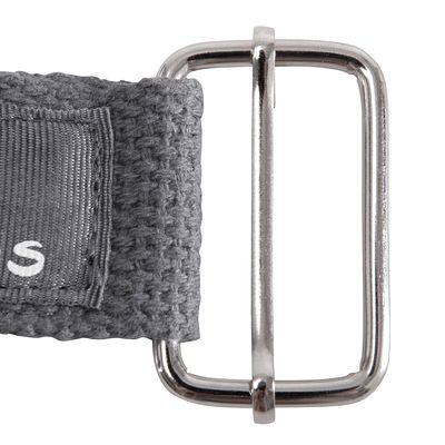 Sangle yoga en coton gris foncé