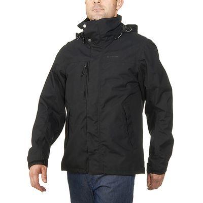 Veste trekking Rainwarm 100 3en1 homme noir