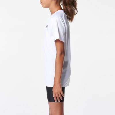 Tee shirt athlétisme enfant run dry blanc